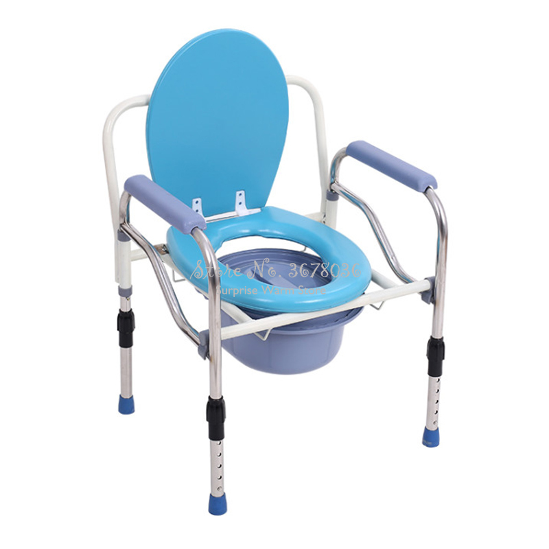 Portable Folding Toilet Chair for Elderly Shower Chair Stool Stainless Steel Dotomy Sitting Chair with Armrest Height AdjustablePortable Folding Toilet Chair for Elderly Shower Chair Stool Stainless Steel Dotomy Sitting Chair with Armrest Height Adjustable