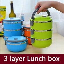 2016 messer Bento Box Mode Verkauf Solide Bento Lunch Box Set Marmita Schichten Edelstahl Isolierte Lebensmittelbehälter Mit Griff
