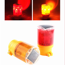 Traffic Light led Solar Cell LED Emergency Lamp 100 LM Bright Warning With Blinker Flash 6LED 110times/min