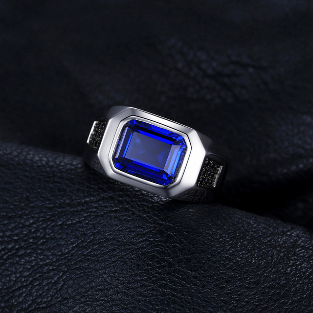 Blue Sapphire 925 Sterling Silver Ring3