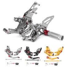 Регулируемый задний набор Подножки подножки для Honda CBR1000RR- мотоцикл Подножки аксессуары алюминий