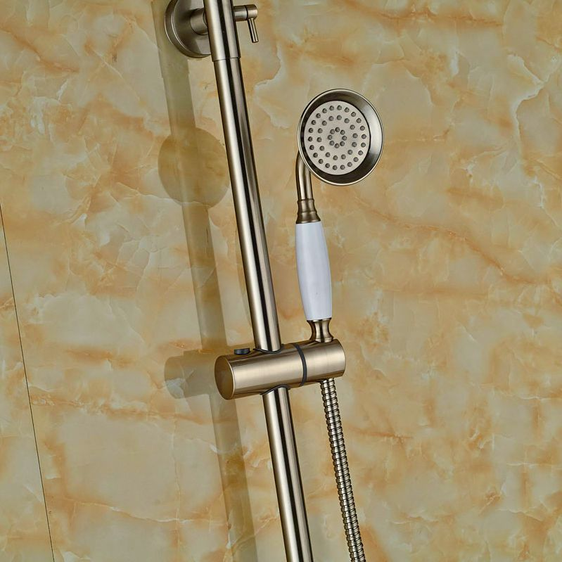 Wall Mount Brushed Nickel Rain Shower Faucet Bathtub Shower Units ...