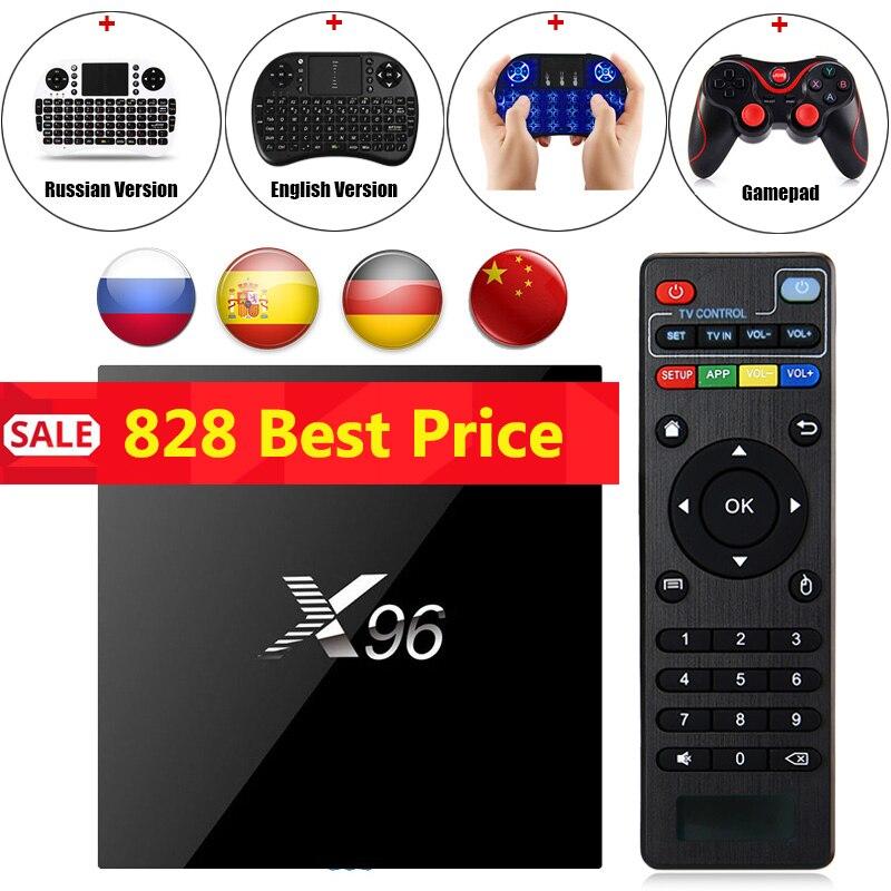 X96 Android 6.0 TV Box Amlogic S905X Max 2 gb di RAM 16 gb di ROM Quad Core WIFI HDMI 4 k * 2 k HD Smart Set Top BOX Media Player T3 Gamepad