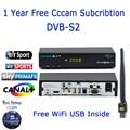 1 Year Ccam Cline Freesat V7 Max DVB-S2 Satellite Tv Receiver Free 1PC USB WiFi Set top Box Eurepo Arabic Italy Cccam Server