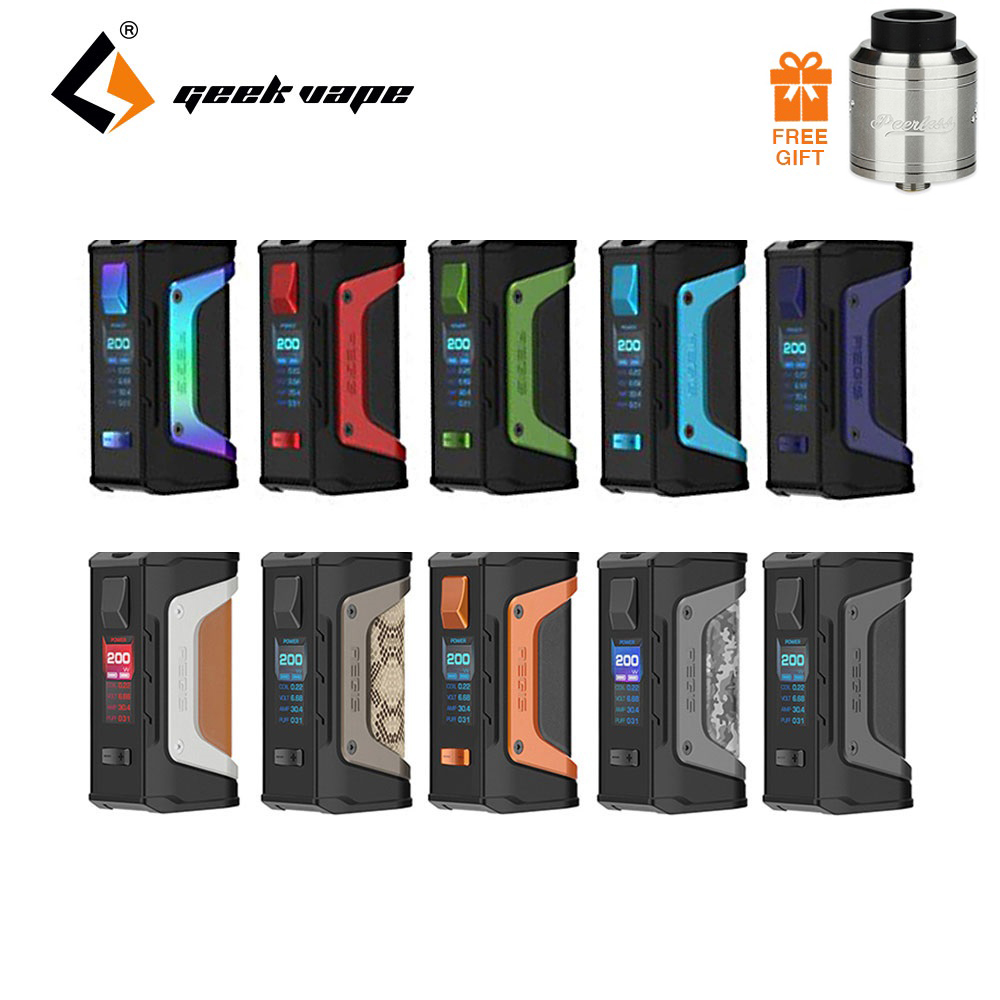 Free Gift Tank ! GeekVape Aegis Legend 200W TC Box MOD with New AS Chipset Powered By Dual 18650 Batteries E Cigs No Battery Mod used good condition mod no 503 ser no 2097014 with free dhl ems