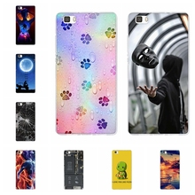 For Huawei P8 Lite Case Ultra-thin Soft TPU Silicone lite Cover Scenery Patterned ALE-L21 Shell Coque