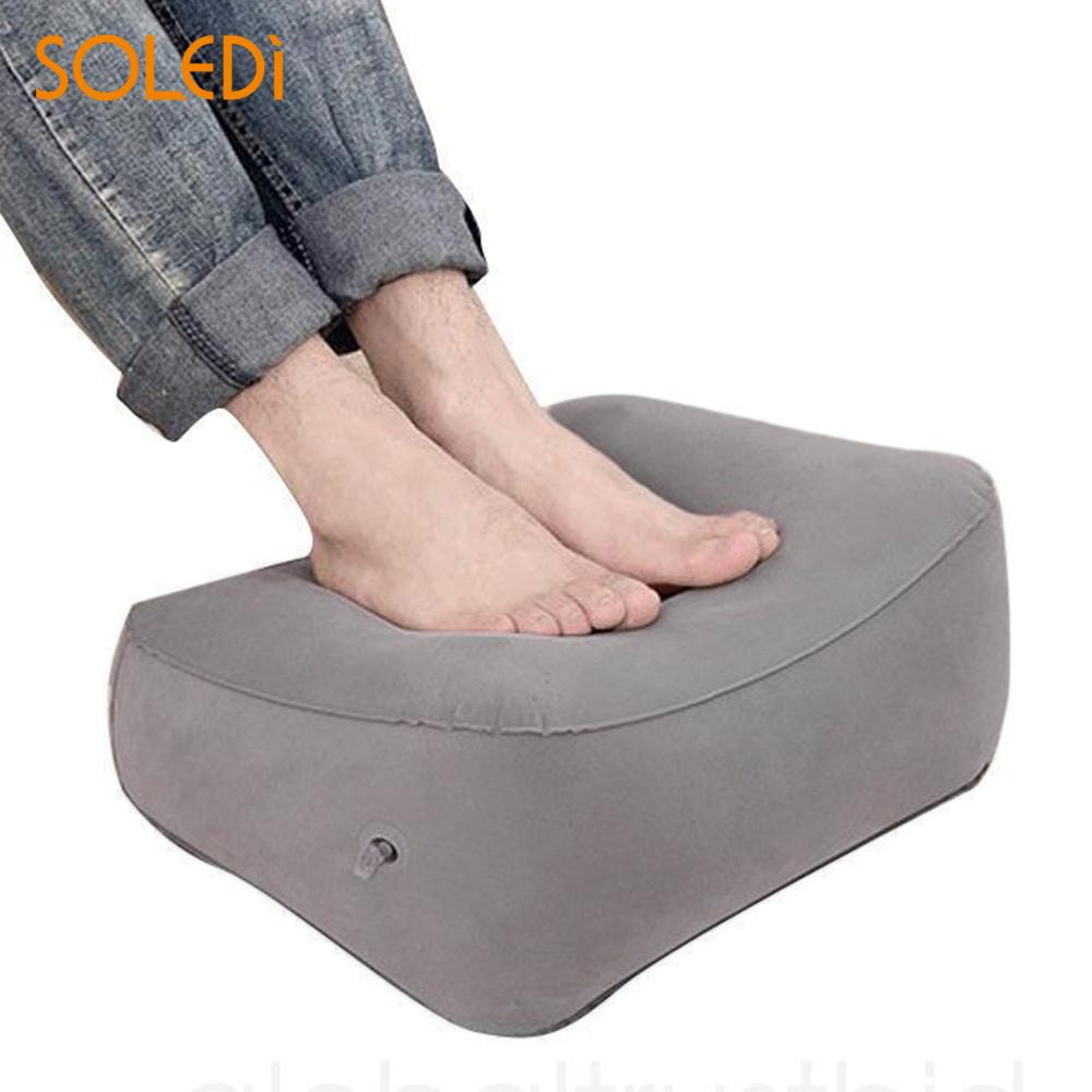 Nordic Inflatable Foot Rest Cushion for Under Desk Leg Support Pillow Knee Sciatica Hip Joint Ankle Pain Relief Car Airplane image