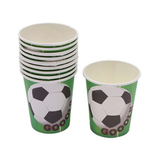 10pcs/lot hot Cartoon football theme Party Decoration Paper cup baby shower boys easter wedding decor happy birthday Supplies