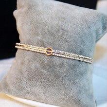 купить Bracelets Bangles Rose Gold Love Bangles Fashion Jewelry For Women 2017 Crystal  Cuff Letter O Bracelet Pulseiras Pulseiras дешево