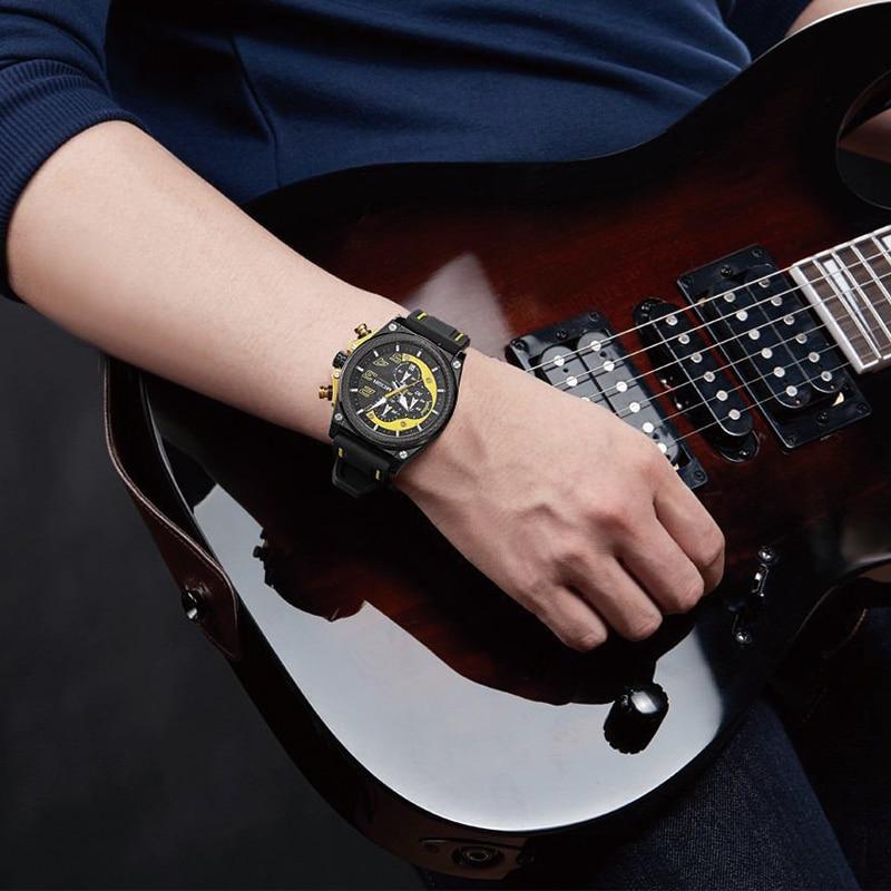 Watch Mænd Style MEGIR Luksus Brand Sports Quartz Watch Silikone - Mænds ure - Foto 3