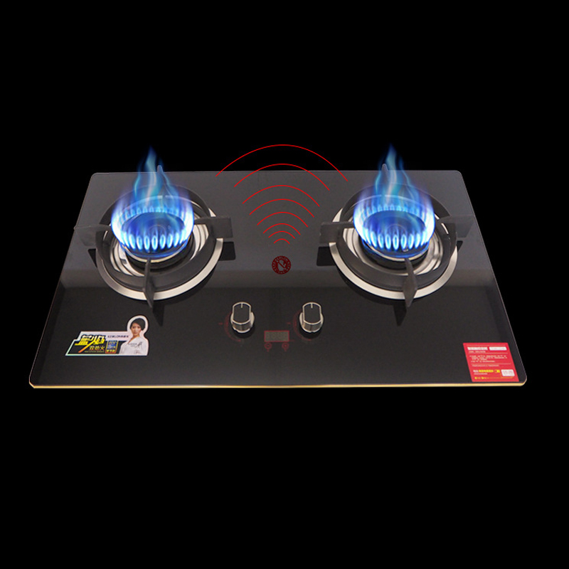 Ranges Buy Cheap 4500w 2 Pots Intelligent Gas Stove Timing Large Firepower Energy Saving Embedded/table Dual-use Gas Cooktop Catering Equipment