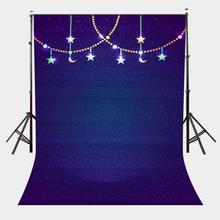 5x7ft Ultra Violet Color Backdrop Hanging Lights Photography Studio Props