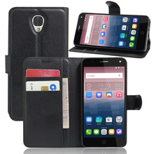 Luxury Phone Carcasa Case For Alcatel POP 4 Stand Flip Cover Wallet Leather Bags Skin For Alcatel One Touch Pop 4 Pop4 5.0 Inch
