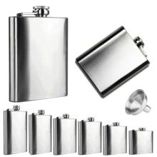 High Recommend 1PC Flask Trustworthy 10 8 7 6 5 4 oz Stainless Steel Hip Flask Liquor Whisky Alcohol Cap Funnel Drinkware Bottle