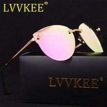 LVVKEE Mujer brand design Mujeres Sin Rebordes Espejo Antideslumbrante gafas de Sol Polarizadas gafas de Sol Retro gafas de sol feminino mujer