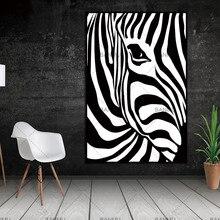 Скандинавские полосы зебры скандинавские абстрактные настенные картины плакат гостиная художественное украшение холст живопись принты без рамки