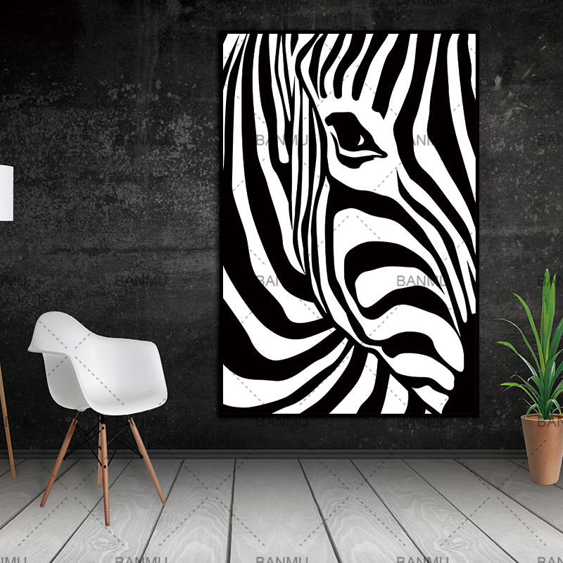 US $2.65 32% OFF|Scandinavian Zebra Stripes Nordic Abstract Wall Picture  Poster Living Room Art Decoration Canvas Painting Prints No Frame-in  Painting ...