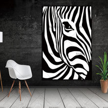 Scandinavian Zebra Stripes Nordic Abstract Wall Picture Poster Living Room Art Decoration Canvas Painting Prints No Frame(China)