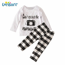 LONSANT Fashion Baby Boys Clothes Set Cotton Long Sleeve Top and Pant 2Pcs Set Fantasias Infantil Children Clothing Dropshipping