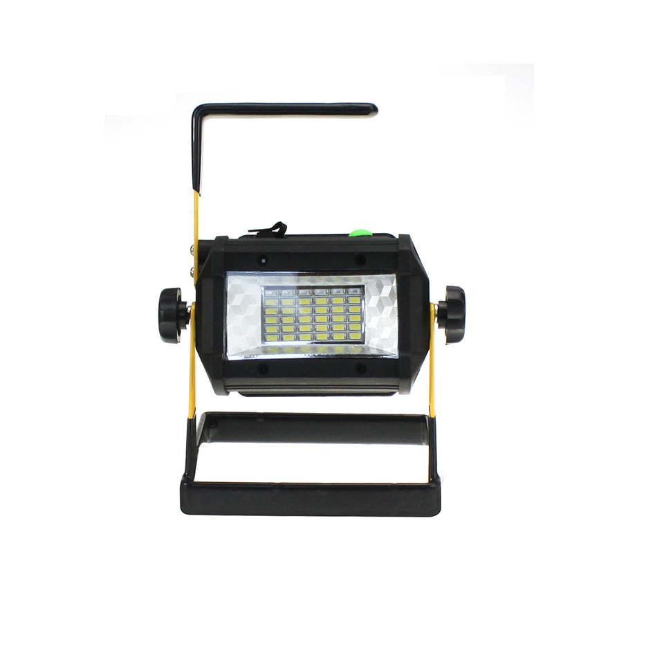 Mini Rechargeable LED Flood Light 36 leds IP65 3Modes LED Floodlight Portable SpotLights Not included 4*18650 Battery
