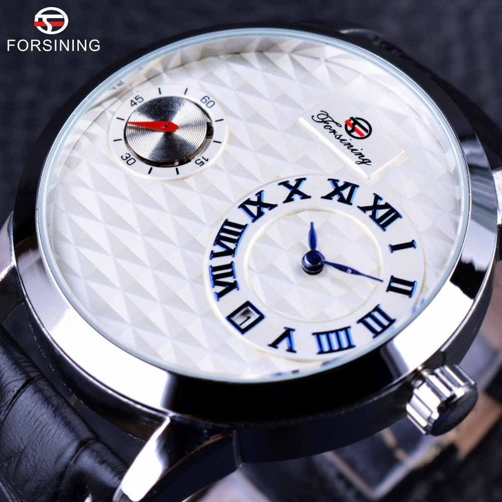 Winner Men Watch Top Brand Luxury Male Automatic Watch Fashion Casual Design Small Second Dial Display Calendar Genuine Leather forsining luxury mmechanical men wristwatch genuine leathe band unique design dial cost effective male casual fashion watch