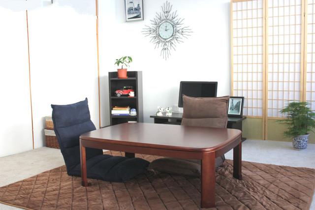 Mesa Kotatsu Retângulo 105 cm Cor Nogueira asiático Tradicional Baixo Design Moderno Mesa de Café Móveis De Madeira Pé Quente Aquecida