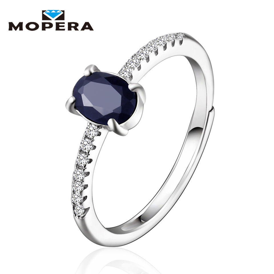 Mopera Top Quality Classic 925 Sterling Silver Black