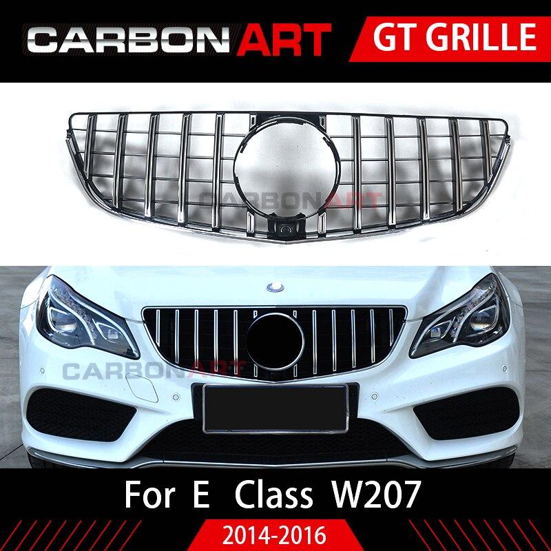 W207 Grill C207 GT Grille Pour Mercedes Benz E Coupé Lifting Pare-chocs Avant Racing Sport 2014-2016 E200 E320 e350 grille