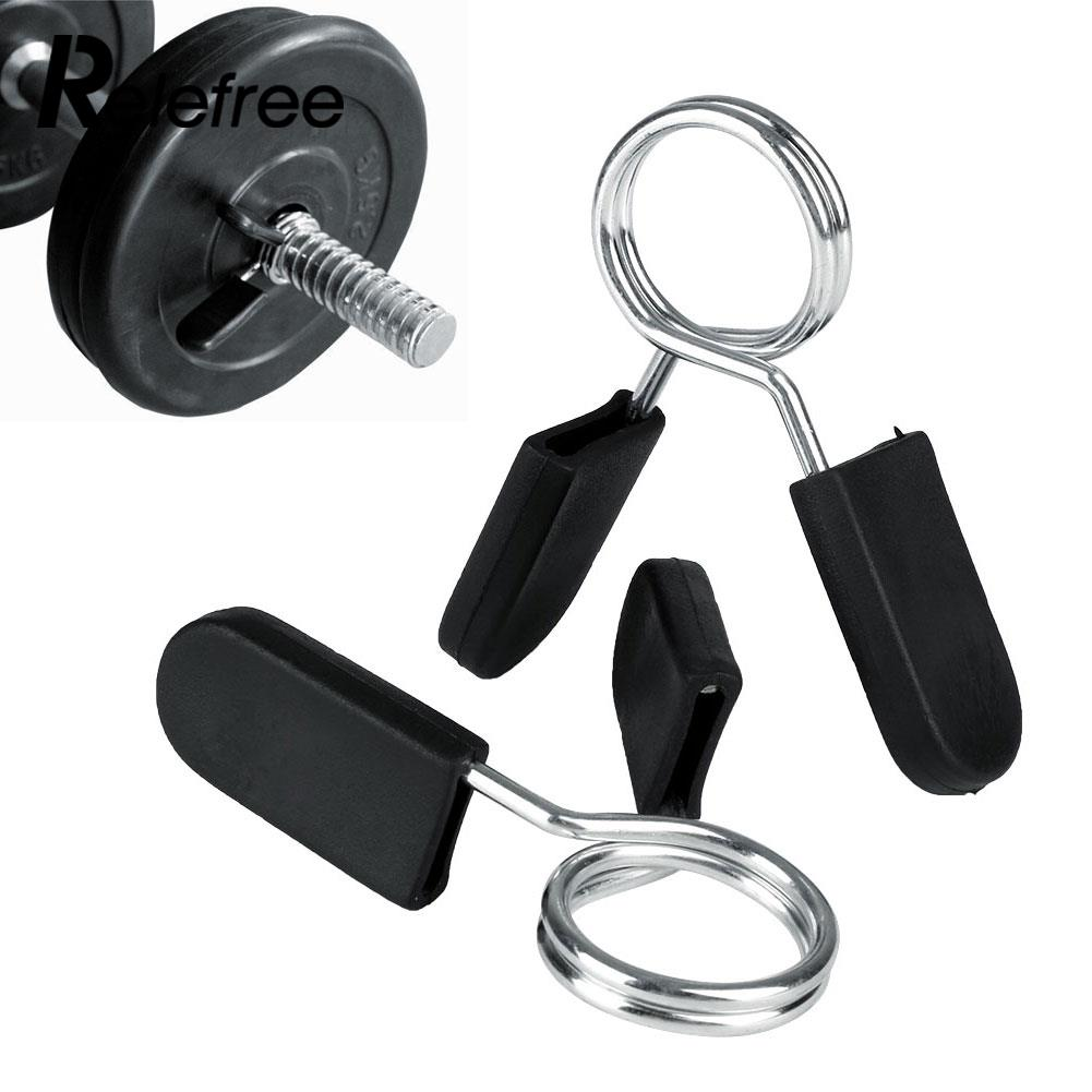 """2 X 1/"""" Spring Clamp Collar Clips for Weight Bar Dumbbells Gym Fitness Training"""