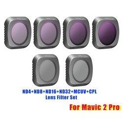 New Snap on Neutral Density ND4+ND8+ND16+ND32+MCUV+CPL Circular Polarizer Camera Lens Filter Kit for DJI Mavic 2 Pro Drone