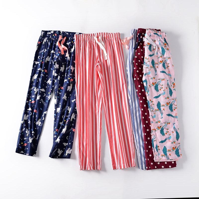 Free shipping,quality Ladies' pajamas,women trousers,pure cotton home trousers,plus size thin pants,femme loose,sales,45-100kgs