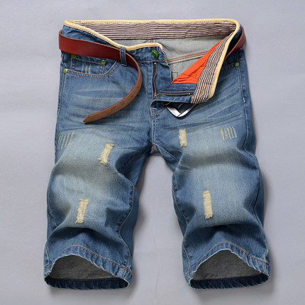 2017 New Famous Brand Short Jeans Men Blue Boy's Hot Short Cotton Beach Pants Fashion Mens Shorts Jean Free Shipping цены онлайн
