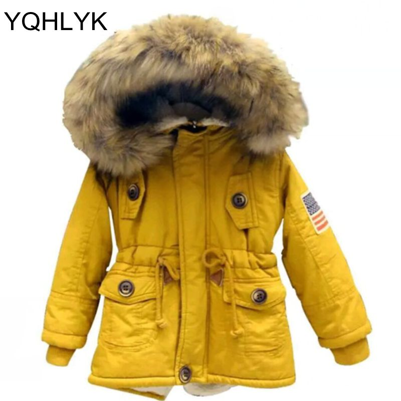 New Fashion Autumn Winter Cotton Boys Girls Coat 2018 Korean Children Thick Hooded Zipper Jacket Casual Warm Kids Clothes W9 children autumn and winter warm clothes boys and girls thick cashmere sweaters
