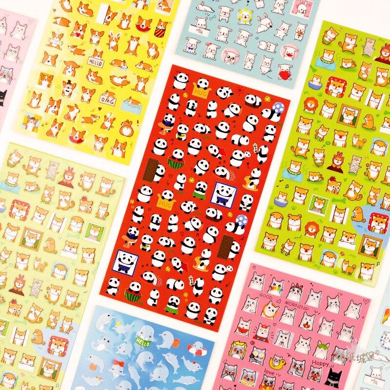 Expression Cat Nekoni Dolphin Bullet Journal Decorative Stationery Stickers Scrapbooking DIY Diary Album Stick