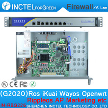 G2020 cpu 1000M 6 82574L 2 groups Bypass firewall hardware with 16G RAM Max
