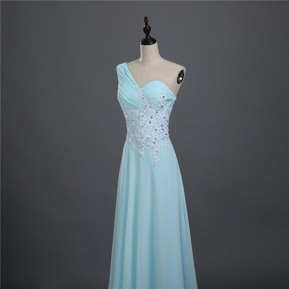 ZJ0216 sky blue vintage black chiffon crystal open back formal ...