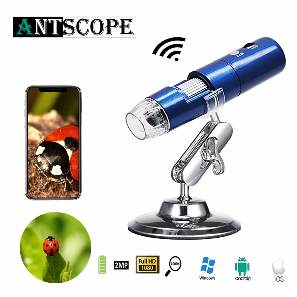 Wireless Digital Wifi Microscope 50x to 1000x 8mm Kid Microscope Magnification HD USB Mini Pocket Handheld Microscopio Camera19