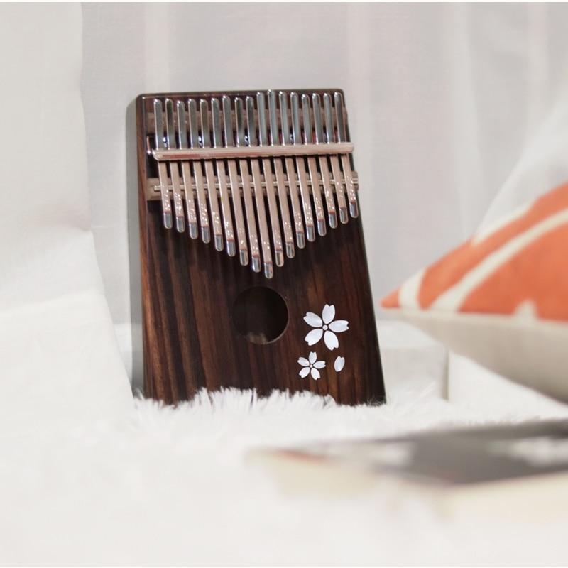 Enya 17 Toetsen Kalimba met bag Solid Mahonie Palissander Bamboe Duim Piano Mbira Calimba muziekinstrumenten - 4
