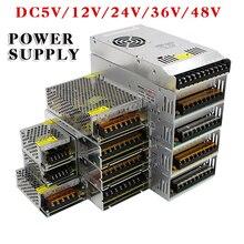 حار بيع AC85 265V 110V 220V إلى DC5V 12V 24V 36V 48V 1A 2A 3A 5A 10A 15A 20A 30A 40A 80A CCTV/وحدة تغذية طاقة مزودة بشرائط ضوء ملونة محول