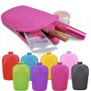 Multi-purpose silica gel for iphone mobile phone case super large capacity coin purse cosmetic bag