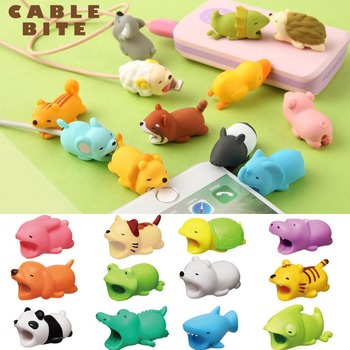Etmakit Cable Protector Cute Animal Bite Shape Prevents Breakage Cable Protects for iPhone NK-Shopping protectores de cargador iphone