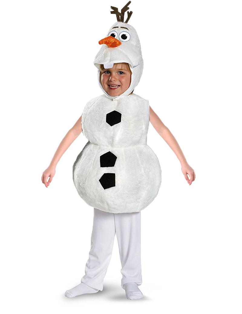 Deluxe Plush Adorable Child Halloween Olaf Costume For Toddler Kids ...