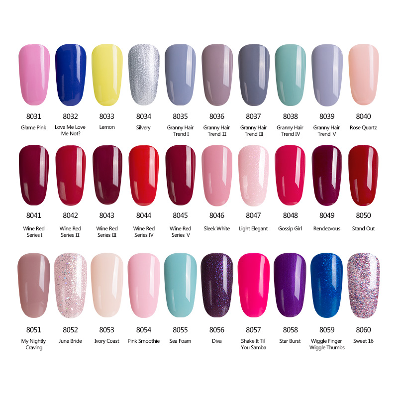 Modelones French Manicure Style Nail Gel Polish Classic Red Color ...