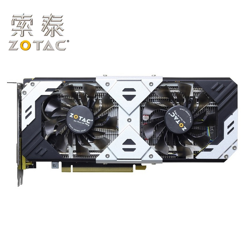 Carte originale ZOTAC GTX960-4GD5 argent GPU GeForce GTX 960 4 GB carte 128Bit PCI-E cartes graphiques placa de carte vidéo GM206 4GD5 utilisé