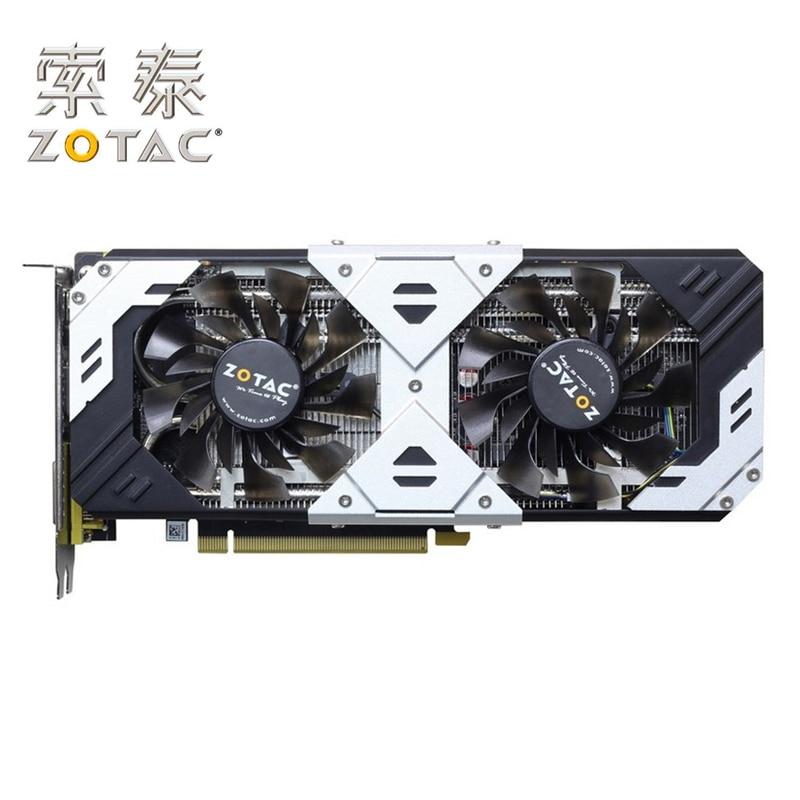 Original ZOTAC GPU GeForce GTX 960 GB Mapa 128Bit 4 GTX960-4GD5 Prata GM206 Cartão placa de vídeo PCI-E Placas Gráficas 4GD5 Usado