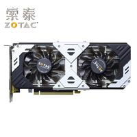 Original ZOTAC GTX960 4GD5 Silver GPU GeForce GTX 960 4GB Map 128Bit PCI E Graphics Cards placa de video Card GM206 4GD5 Used