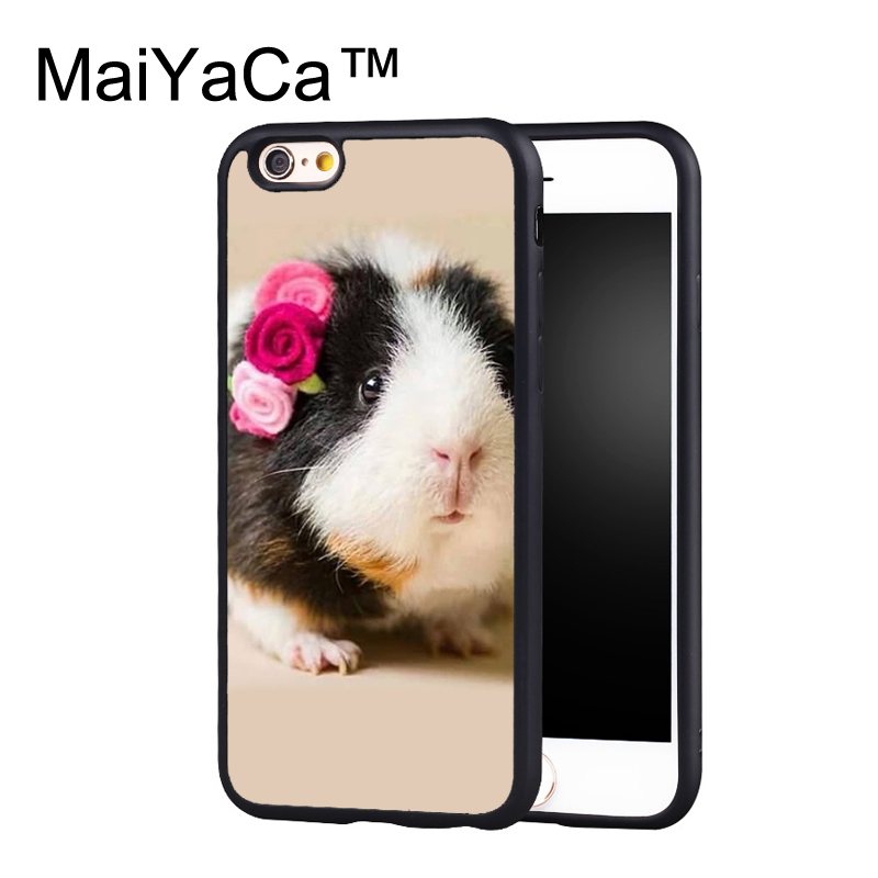 MaiYaCa Cute baby Guinea pig DESIGN Phone Case for iPhone 6 6s Plus Capa Fundas Case for iphone 6s plus Back Protection Shell