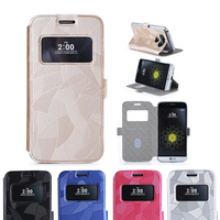LG G5 Case Bdeals Multi Functional Window View PU Leather Flip Folio Book Style Card Slots