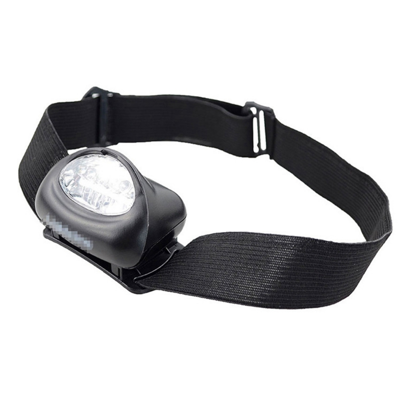 Outdoor LED Headlamp ABS Lightweight Adjustable Torch Lamp Light Flashlight Camping Hiking Fishing Accessory