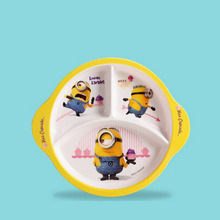 Dětský talířek rozdělený na 3 části s obrázkem Mimoně